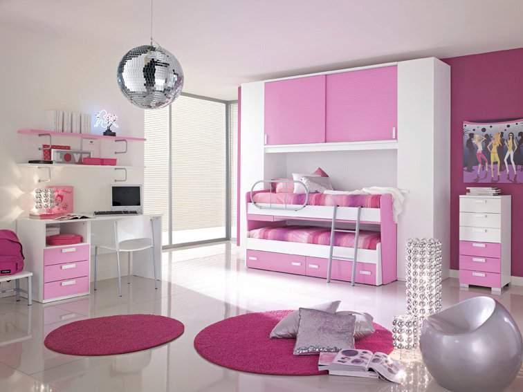 Dormitorio infantil for Habitacion rosa para chicas