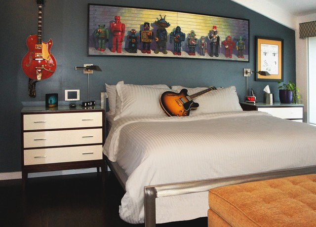 Dormitorio de un var n joven for Habitacion de hombres decoracion